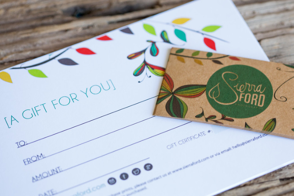 Photography, Business Cards, Sierra Ford Photography