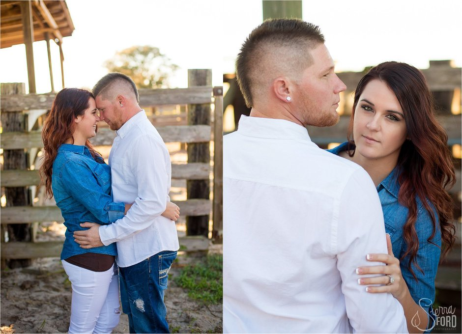 rustic engagement photos on a farm